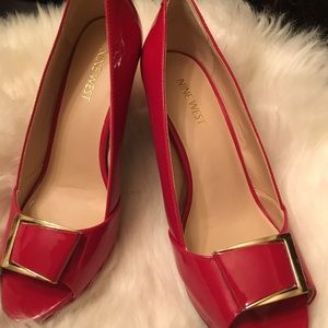 Red Nine West Heels